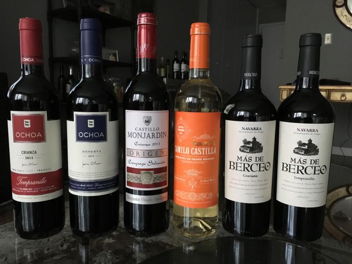 Navarra wines Lineup